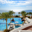 Swimming pool near beach at luxury hotel, Sharm el Sheikh, Egypt — ストック写真