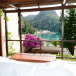 View from the luxury villa on beach, Fethiye, Turkey — Foto Stock