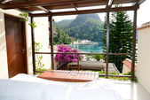 View from the luxury villa on beach, Fethiye, Turkey — Stock Photo