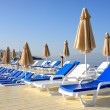 Beach on Mediterranean turkish resort, Bodrum, Turkey — Stock Photo