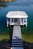 Relaxation building near beach on Mediterranean turkish resort, — Stock Photo
