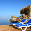 Stock Photo: Beach on Mediterraneturkish resort, Bodrum, Turkey