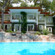 Stock Photo: Swimming pool near luxury villas, Marmaris, Turkey