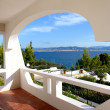 Stock Photo: Seview from apartment in luxury hotel, Peloponnes, Greece