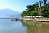 Stranden på medelhavet turkiska resort, fethiye, turkiet — Stockfoto