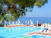 Pool i lyxhotell, fethiye, turkiet — Stockfoto