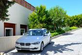 The car parked near modern luxury hotel, Bodrum, Turkey — Stock Photo