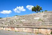 Das steht auf stadion in antiken messene (messinia), peloponnes, — Stockfoto