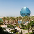 Stock Photo: Panoramof luxury hotel and circular building, Abu Dhabi, U
