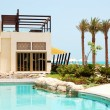Stock Photo: Swimming pool at luxury villa, Saadiyat island, Abu Dhabi, U