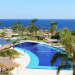 Stock Photo: Beach and swimming pool at luxury hotel, Sharm el Sheikh, Eg