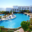 Stock Photo: Beach with swimming pools at luxury hotel, Sharm el Sheikh,