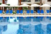 Swimming pool at luxury hotel, Bodrum, Turkey — Stock Photo