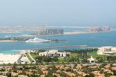 View on Jumeirah Palm man-made island, Dubai, UAE — Stock Photo