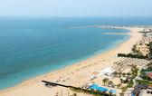 Beach of the luxury hotel, Ras Al Khaima, UAE — Stock Photo