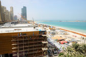 DUBAI, UAE - SEPTEMBER 11: The view on construction of the new h — Stock Photo