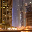 DUBAI, UAE - SEPTEMBER 11: The Cayan Tower in night illumination — Stock Photo