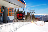 JASNA-MARCH 15: Cableway station in Jasna Low Tatras. It is the — Stock Photo