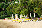 トルコ、フェティエのトルコのリゾートのビーチ — ストック写真