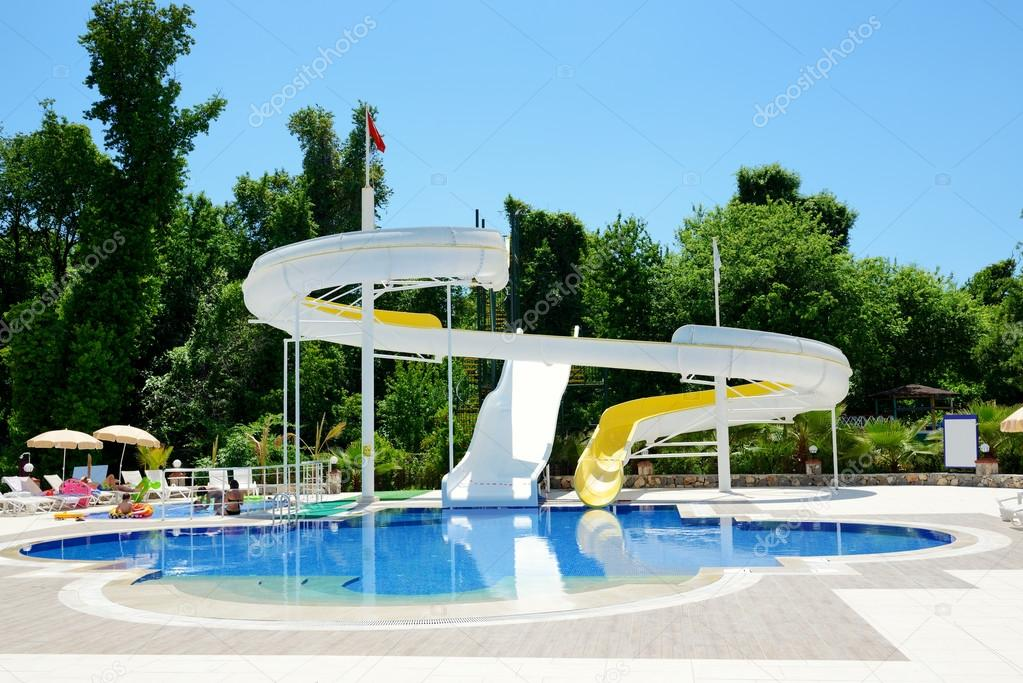 aqua park water attractions antalya turkey stock photo. Black Bedroom Furniture Sets. Home Design Ideas