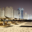 Beach night illumination of the luxury hotel, Dubai, UAE — Stock Photo