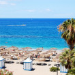 Beach of the luxury hotel, Tenerife island, Spain — Stock Photo