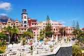 Sea view terrace of the luxury hotel's restaurant, Tenerife isla — Stock Photo