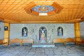 The entrance interior in Varlaam monastery, Meteora, Greece — Stock Photo