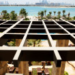 The view on Jumeirah Palm man-made island from luxury hotel, Dub — Stock Photo