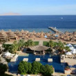 Timelaps of the beach at luxury hotel, Sharm el Sheikh, Egypt — Stock Video #37632229