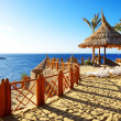 Beach at the luxury hotel, Sharm el Sheikh, Egypt — Stock Photo #37881151