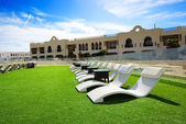 Relaxing area at luxury hotel, Sharm el Sheikh, Egypt — Stock Photo