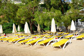 Beach on Turkish resort, Fethiye, Turkey — Stock Photo