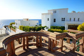 The luxury villas at shore, Sharm el Sheikh, Egypt — Stock Photo