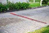 Специальные булавки против автошины в роскошный отель, s — Стоковое фото