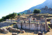 The ruins of Arcadian Gate, Peloponnes, Greece — Stock Photo
