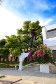 Villas at luxury hotel, Peloponnes, Greece — Foto de Stock