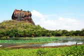 The Sigiriya (Lion's rock) is an ancient rock fortress and palac — Stockfoto