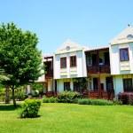 Building of the luxury hotel on Turkish resort, Fethiye, Turkey — Stock Photo