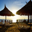 Stock Photo: Sunrise and beach at luxury hotel, Sharm el Sheikh, Egypt