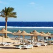 Stock Photo: Beach at luxury hotel, Sharm el Sheikh, Egypt