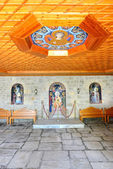 The entrance interior in Varlaam monastery, Meteora, Greece — Stock Photo