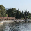 Stock Video: Panning beach on Turkish resort, Marmaris, Turkey