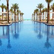 Swimming pool of the luxury hotel, Saadiyat island, Abu Dhabi, U — Stock Photo #39569621