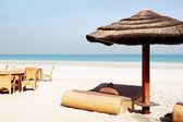 海滩的豪华酒店,阿治曼、 阿拉伯联合酋长国 — 图库照片