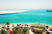 海滩的豪华酒店,阿布扎比,阿联酋 — 图库照片