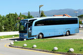 PELOPONNES, GREECE - JUNE 7: The modern bus for tourists transpo — Stock Photo
