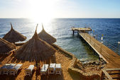 Strand von luxushotel, sharm el sheikh, ägypten — Stockfoto