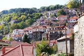 The houses in Metsovo Greek village, Greece — Stock Photo