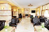 Lobby interior of the luxury hotel, Halkidiki, Greece — Stock Photo